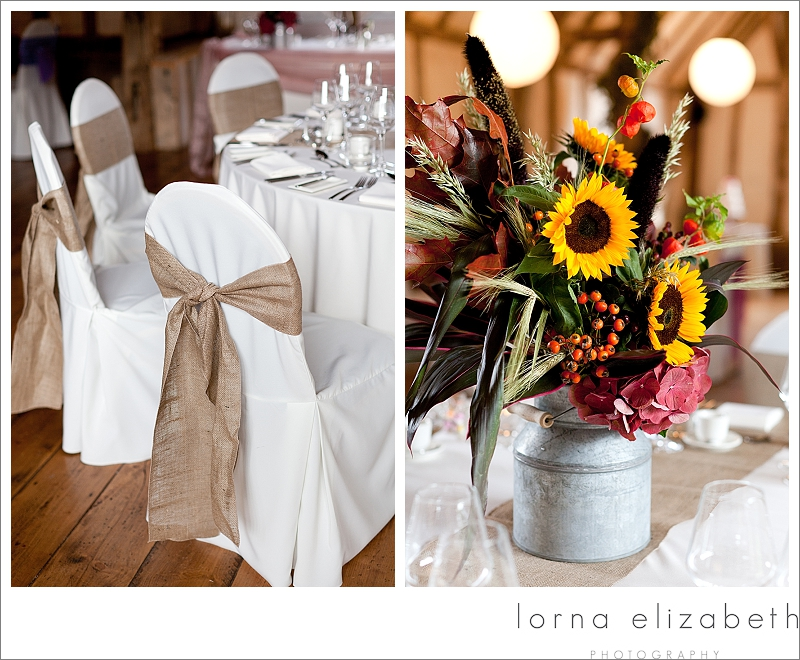 4 Rustic wedding flowers at Winters Barns Wedding