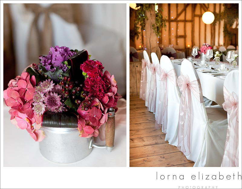 7 Winters Barns Wedding Photos and pink wedding flowers