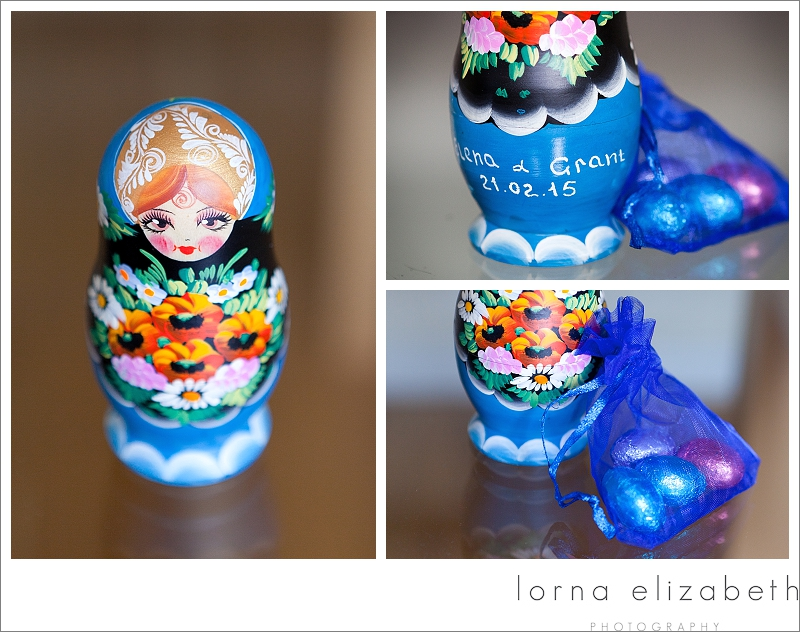 Russian Doll Wedding favours; a little colour in the room!