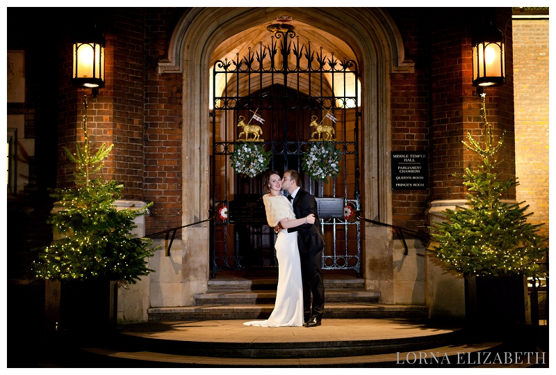 Temple Church & Middle Temple Christmas Wedding: Alice & Alex