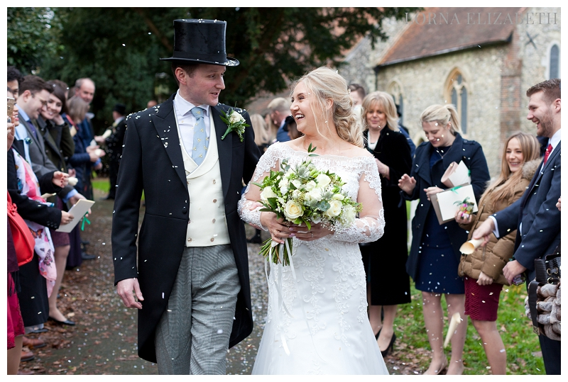 St Martin of Tours Church Chelsfield & Chilston Park Christmas Wedding: Heather & Rury